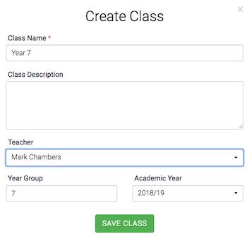 Class Admin Add Class