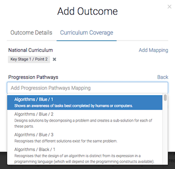 Journey Editor - Curriculum Mapping