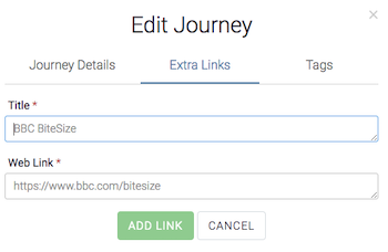 Journey Editor - Add Links